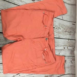 JCPenney Super Soft Skinny Coral Jeans